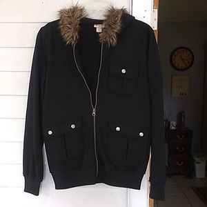 mossimo Hooded knit sweater jacket